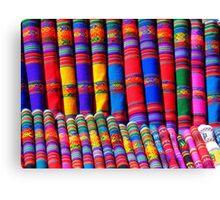 Rainbow Pattern Dye Canvas Print