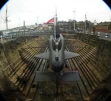 HMS Ocelot stern view fish eye by mike  jordan.