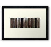 Moviebarcode: The Straight Story (1999) Framed Print