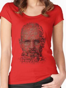 Walter White, Typographic Man of Chemistry Women's Fitted Scoop T-Shirt