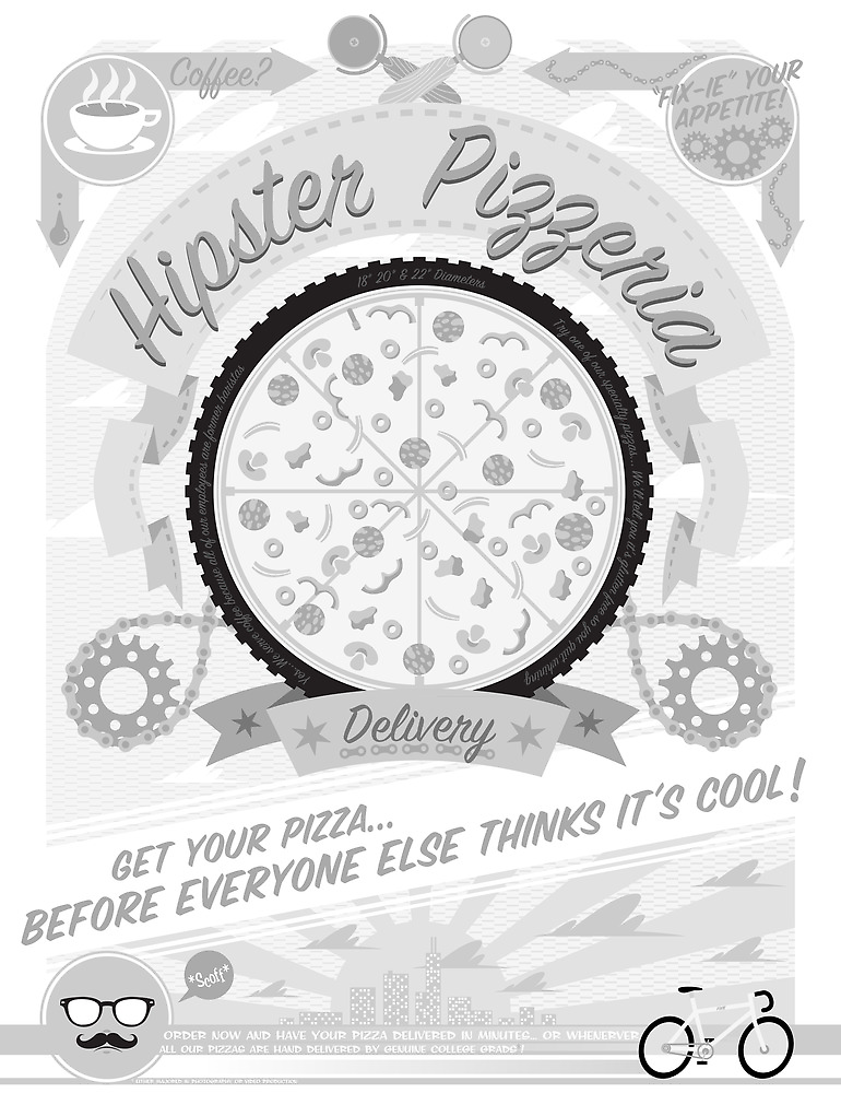 Hipster Pizzeria by AtomicRocket