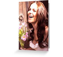 laughing bride Greeting Card