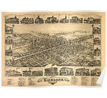 Panoramic Maps The city of Vineland New Jersey 1885 Poster