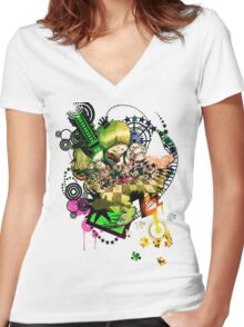You Call This a Utopia? Women's Fitted V-Neck T-Shirt