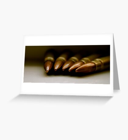 Bullets from World War 2 Greeting Card