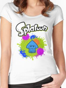 Splatoon Squid - Colour Blue Women's Fitted Scoop T-Shirt