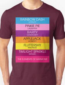 Minimalist Elements of Harmony Unisex T-Shirt