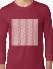 Grid Pink Long Sleeve T-Shirt