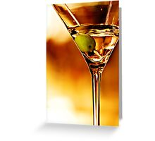 the martini - close up Greeting Card