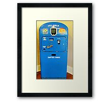 Old Pepsi Machine Framed Print
