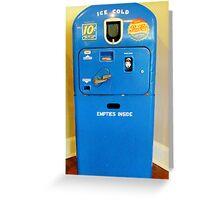 Old Pepsi Machine Greeting Card