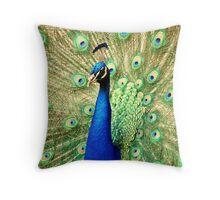 @PEACOCK Throw Pillow