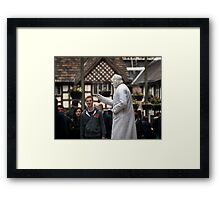Tall White Man, In a Hat Framed Print