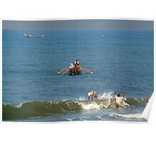 Fishermen off Black Beach Varkala Poster