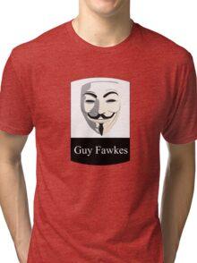 Guy Fawkes Badge X4 Tri-blend T-Shirt