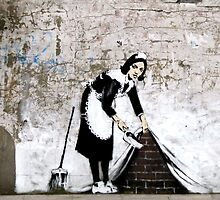 Banksy - Sweep it under the carpet N°1 by streetartfans