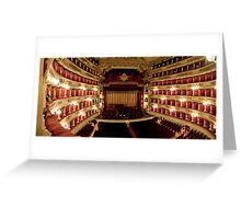La Scala of Milano Greeting Card