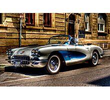 Corvette Oldtimer HDR Photographic Print