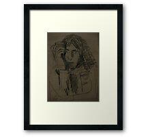 kenny drinking tea Framed Print