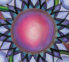 Mandala : Pink Heart  Sticker