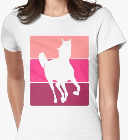 3 Tone Horse  Womens Fitted T-Shirt