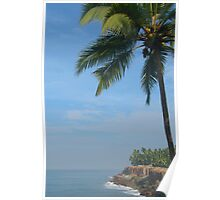 Palm Trees on the Cliff Varkala Poster