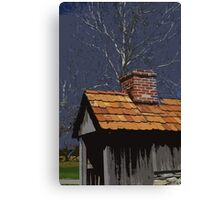 Landis Valley Cooking Shed Paint Canvas Print