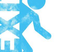 BLUE EXIT  Sticker
