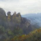 Foggy morning, Three Sisters by Tash  Luedi Art