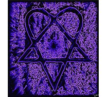 Violet Thoughts Heartagram Photographic Print
