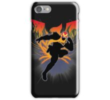 Super Smash Bros. Black Captain Falcon Silhouette iPhone Case/Skin