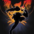 Super Smash Bros. Black Captain Falcon Silhouette by jewlecho