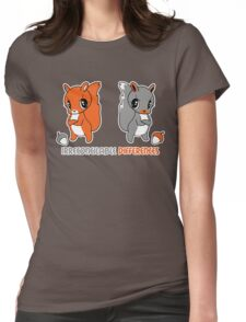 Irreconcilable Differences - Red vs Grey Squirrel Womens Fitted T-Shirt