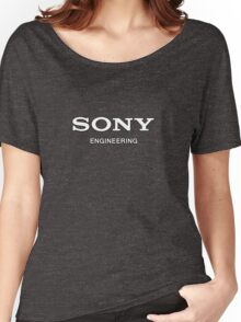 Sony Engineering White Women's Relaxed Fit T-Shirt