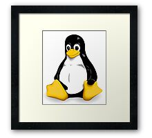 Linux Pinguin Framed Print