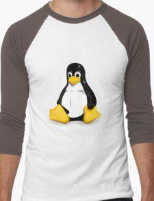 Linux Pinguin Men's Baseball ¾ T-Shirt