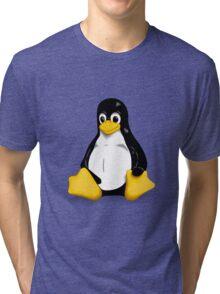 Linux Pinguin Tri-blend T-Shirt