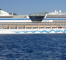 Aida Cruise Ship Entering Marmaris Bay Turkey Sticker