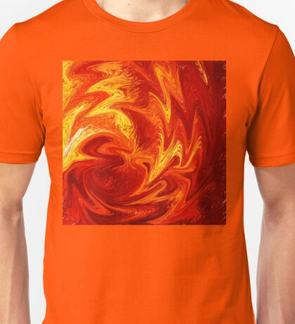 Dancing Flames Abstract  Unisex T-Shirt