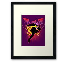 Super Smash Bros. Red Captain Falcon Sihouette Framed Print