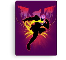 Super Smash Bros. Red Captain Falcon Sihouette Canvas Print