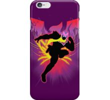 Super Smash Bros. Red Captain Falcon Sihouette iPhone Case/Skin