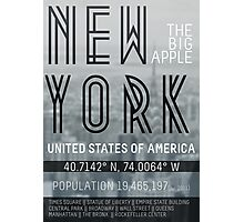 Metropolis New York Photographic Print