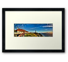 Sun kissed Lighthouse - Byron Bay Framed Print