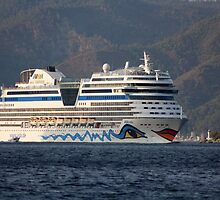Aida Stella Cruise Ship Leaving Marmaris by taiche
