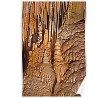Dolomite Straws and Stalagmites - Hastings Caves Poster