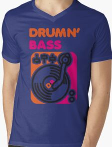 Drum N' Bass Mens V-Neck T-Shirt