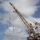 Cockatoo Island - RB Rumble 2012 - Cranes and Sky by Donnahuntriss