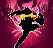 Super Smash Bros. Pink Captain Falcon Silhouette by jewlecho