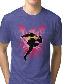 Super Smash Bros. Pink Captain Falcon Silhouette Tri-blend T-Shirt